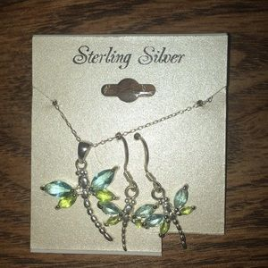 Jewelry - Dragonfly necklace and earring set